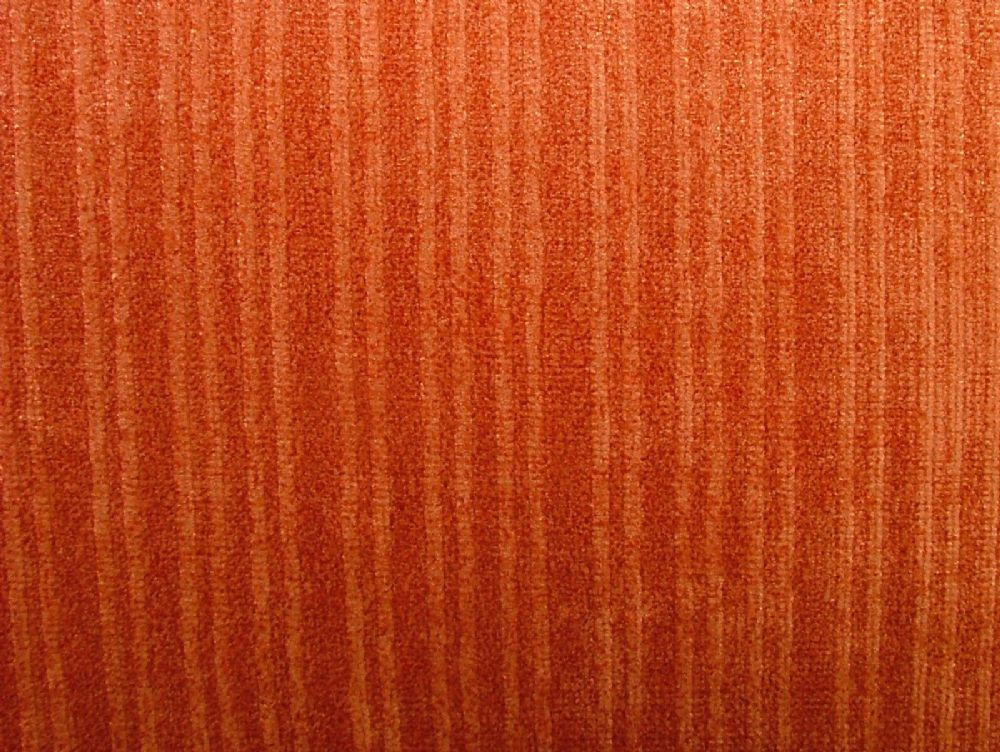 Burnt Orange Soft Pile Designer Velvet Curtain Upholstery